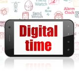 Time concept: Smartphone with Digital Time on display Stock Image