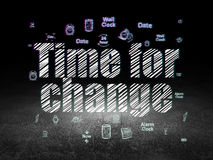 Time concept: Time for Change in grunge dark room Royalty Free Stock Photo