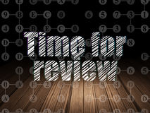 Time concept: Time for Review in grunge dark room Stock Photo