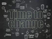Time concept: Time to Change on School Board Stock Photography
