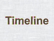 Time concept: Timeline on fabric texture Stock Photography