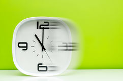 TIme concept white clock stock photos