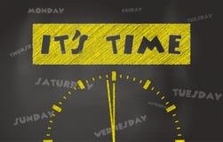 It Is Time Conceptual Stockbilder