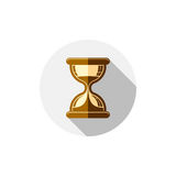 Time conceptual stylized icon. Old-fashioned hourglass isolated. On white, stylish clock pictogram Stock Image
