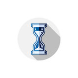 Time conceptual stylized icon. Old-fashioned hourglass isolated. On white, stylish clock pictogram Stock Photo