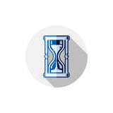Time conceptual stylized icon. Old-fashioned hourglass isolated Stock Images