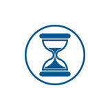 Time conceptual stylized icon. Old-fashioned hourglass isolated Royalty Free Stock Photography