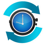 Time constant movement concept illustration Royalty Free Stock Photo