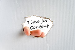 Time for content Concept Stock Photo