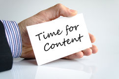 Time for content Concept Royalty Free Stock Photos