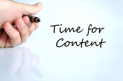 Time for content Concept Royalty Free Stock Image
