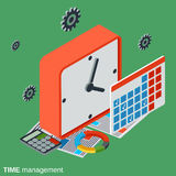 Time Control, Management Vector Concept Royalty Free Stock Photos