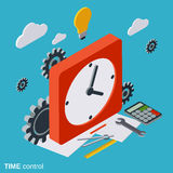 Time control, time management vector concept Stock Image