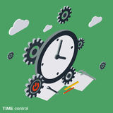 Time control, time management vector concept Royalty Free Stock Photos