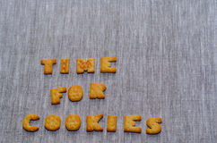 Time for cookies phrase Stock Photo