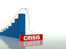 Time of crisis. Financial crisis and economic meltdown can be illustrated as vector illustration