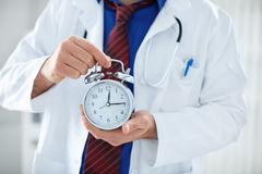 Time is crucial for your health. Time is crucial when it comes to your health royalty free stock photography