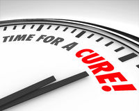 Time for a Cure Clock Prevent Disease Sickness Illness Medical R Royalty Free Stock Photography