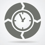 Time cycle web icon Royalty Free Stock Images