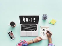 Time And Date Clock Graphic Concept Stock Image