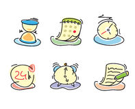 Time and date icons Royalty Free Stock Images