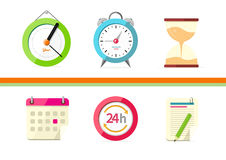 Time Design Flat Concept Clock and Calendar Royalty Free Stock Photo