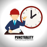 Time design over white background vector illustration Royalty Free Stock Images
