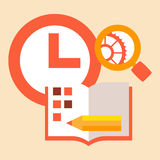 Time diary studies Stock Images