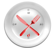 Time for  diet. Royalty Free Stock Photography