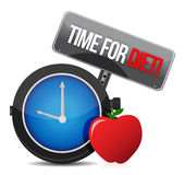 Time for diet. Illustration design over white Royalty Free Stock Photos