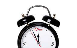 Time for diet. Concept, isolated Royalty Free Stock Images