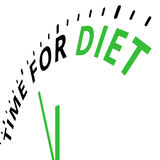 Time for diet. Illustration of a clock showing a business or personal metaphor about health Royalty Free Stock Image