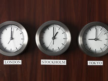 Time Difference Stock Photo
