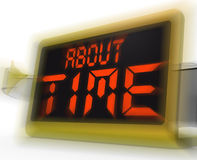 About Time Digital Clock Shows Late Or Overdue Stock Photo