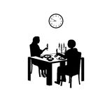 Time for dinner Stock Image