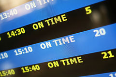 On time display panel Stock Photo