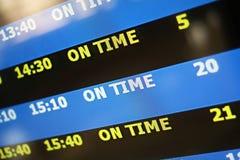 On time display panel Stock Photo