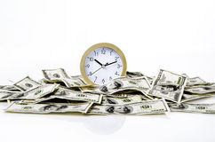 Time and dollars Stock Photos
