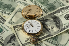 Time dollars. (watch, money,time Royalty Free Stock Photo