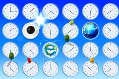 Time and earth Stock Photos