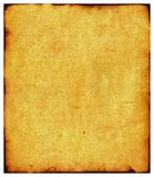 Time eats a paper. Sheet of the old paper which has turned yellow from time. The picture is convenient for drawing on it of the text or images Royalty Free Stock Photography