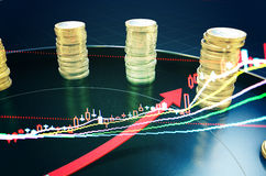 Time and economic data index Royalty Free Stock Photo