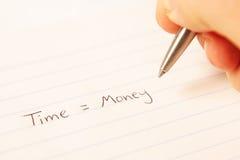 Time equals money Stock Photos