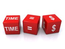 Time equals money Stock Photos