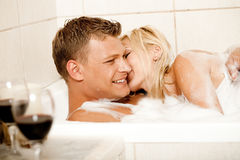 Time for erotic bath Royalty Free Stock Photos