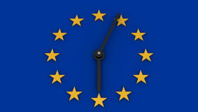 Time for European Union stock video footage