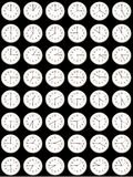 Time - every fifteen minutes. A collage of clocks showing every fifteen minutes of the day Stock Photography