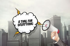 A time for everything text on speech bubble and Stock Photos