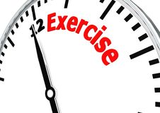 Time for exercise Royalty Free Stock Photos