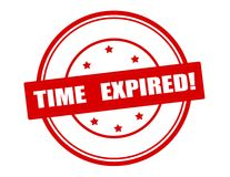 Time expired. Rubber stamp with text time expired inside, vector illustration Royalty Free Stock Photo